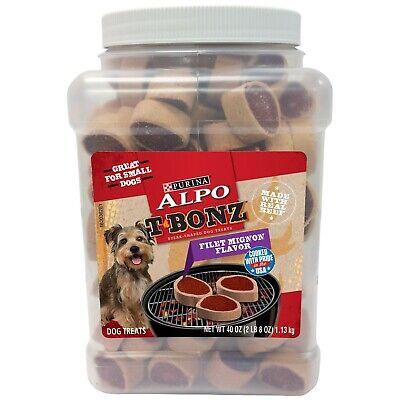 Purina Alpo T-Bonz Dog Treats, Filet Mignon Flavor, 40 oz Filet Mignon Flavor