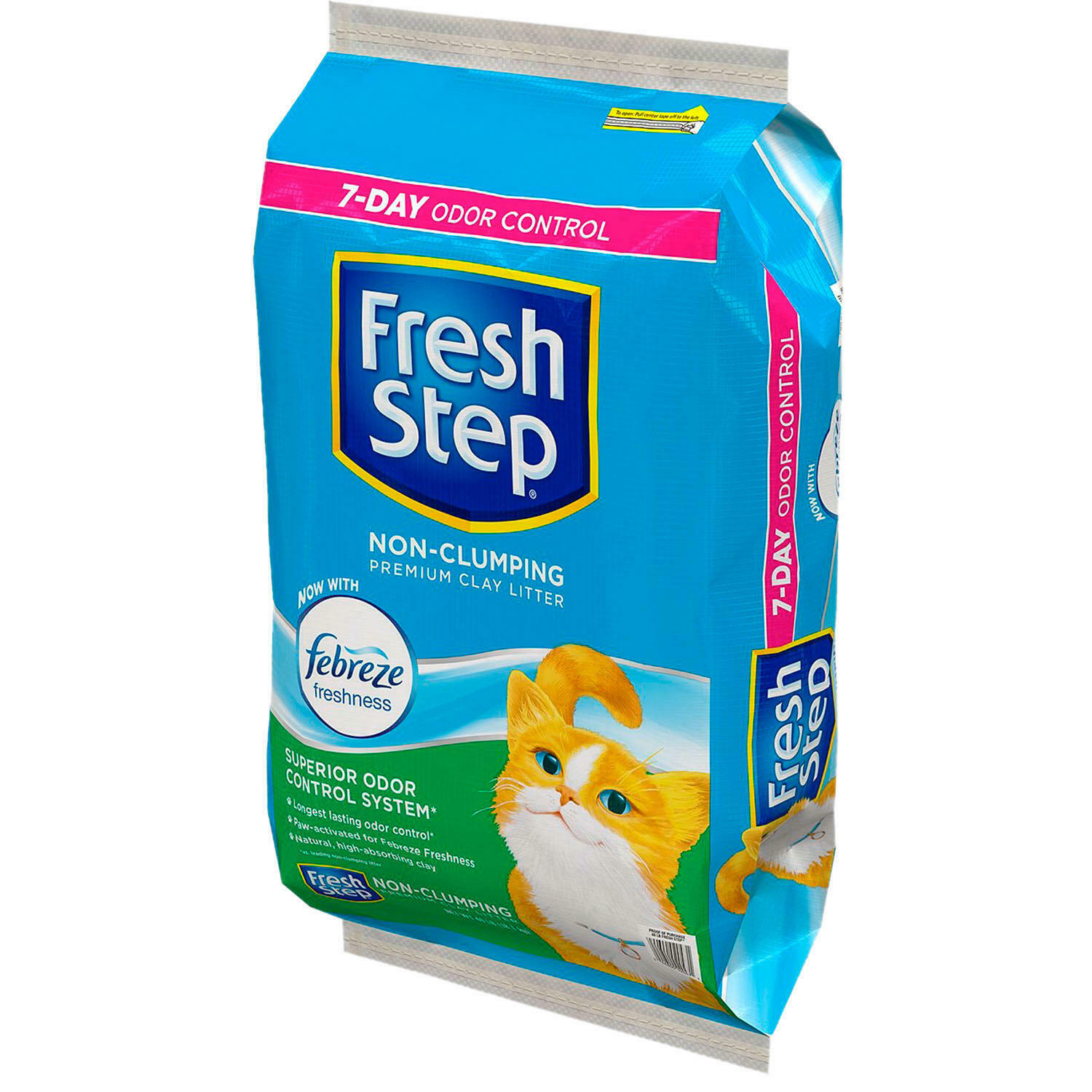 Fresh Step Non-Clumping Premium Cat Litter with Febreze Fres