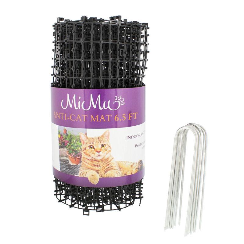 MiMu Cat Deterrent Mat Outdoor Indoor Cat Repellent Spike Mat - Black 6.5ft Roll