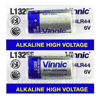 2 X Vinnic L1325F 4LR44 Alkali-Batterrien 6V A544 PX28 Exp : 2021 gebraucht kaufen  Versand nach Germany