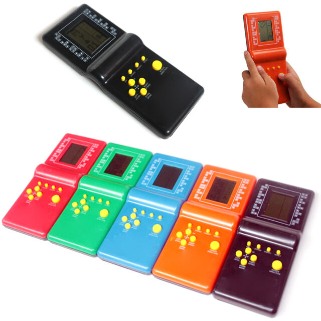 Newly Retro LCD Game Electronic Vintage Tetris Brick Handheld Arcade Pocket Toys
