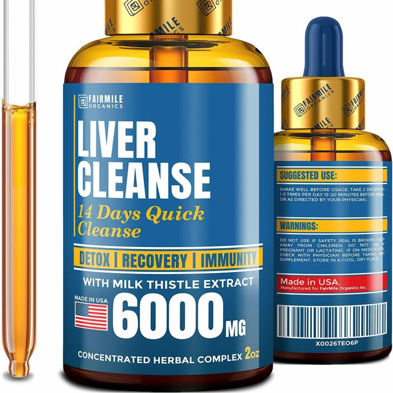 Liver Cleanse with 6000 MG Milk Thistle - Made in USA - Pote