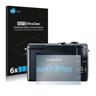 6x Displayschutzfolie für Canon EOS M100 Schutzfolie Klar Folie Displayfolie