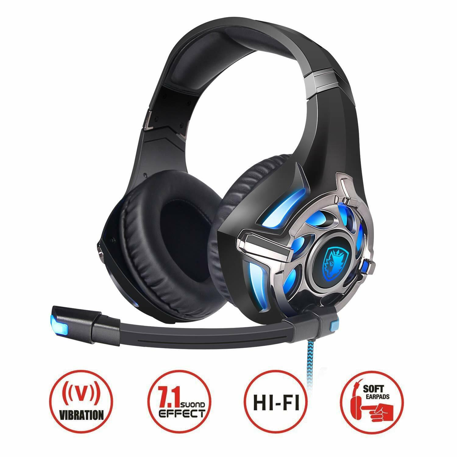 r16 gaming headset 7 1 surround stereo