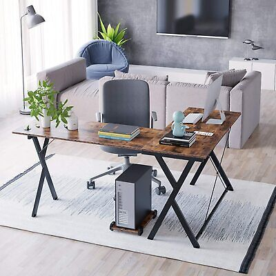 L-Shaped Desk, Game Table, Corner Table, with a Movable Main Frame Furniture