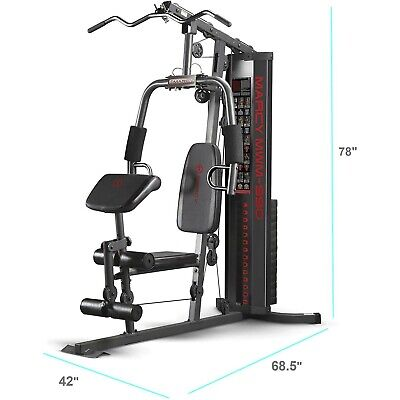 Home Gym Equipment System Steel Construction Best Total Body Training 150-lb