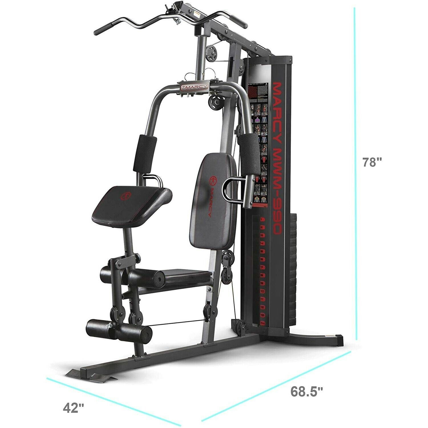 Home Gym Equipment System Steel Construction Best Total Body