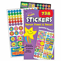 738 Super Stars & Smiles Reward Stickers Pad Teacher/parent/school - trend enterprises - ebay.co.uk