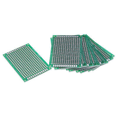 10x Lochrasterplatte 4x6cm Leiterplatte Streifenraster Platine Panel PCB Board