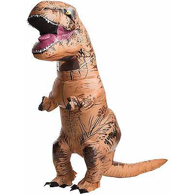 Inflatable Dinosaur Costume Adult  T-Rex Jurassic Dress Cosplay Halloween Fancy#
