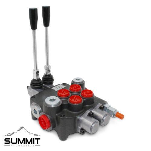 2 Spool Monoblock Hydraulic Directional Control Valve, 21 GPM, SAE Ports