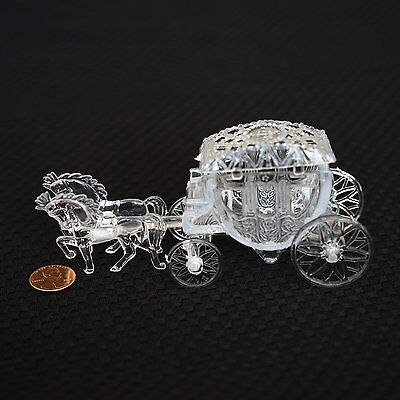 - Royal Vintage Cinderella Horse and Carriage Coach Cake Topper Clear