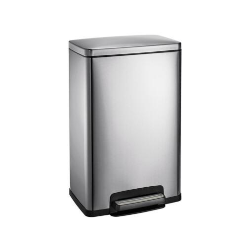 New Stainless Steel Freshener 13 Gallon Step Trash Can Tramontina Garbage Basket