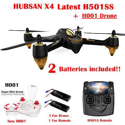 Hubsan H501S Drone FPV RC Quadcopter 1080P HD Camera Follow Me RTH GPS,UK 2018