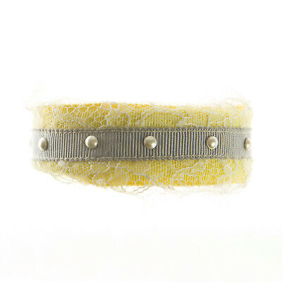 JOOMI LIM Yellow & Grey Laced up Cuff Bracelet NEW