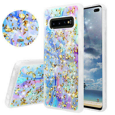 For Samsung Galaxy S10/Plus/S10e Colorful Galaxy Marble Glitter TPU Phone Case Color Cell Phone Cover Case