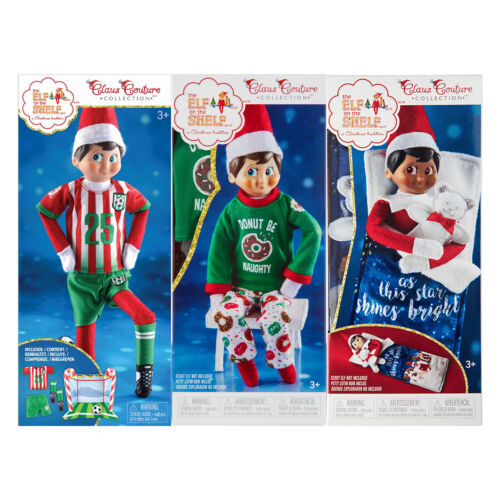 Elf on the Shelf Outfits: North Pole Goal+Gear, Donut Be Naughty and Slumber Set