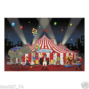 CARNIVAL Circus Big Top Tent Party Decoration Mural BACKDROP Banner Photo Prop