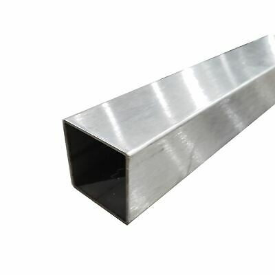 304 Stainless Steel Square Tube 58 X 58 X 0.049 X 72 Long Polished