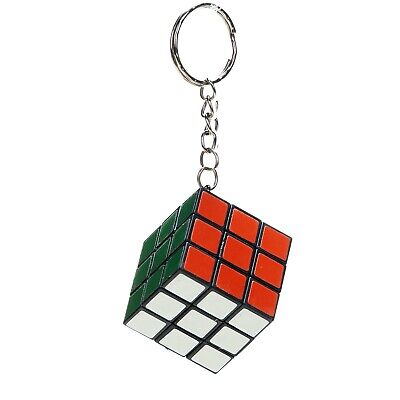 3CM MINI RUBIKS CUBE PUZZLE TOY KEYRING - MIND TEASER KIDS GIFT PARTY BAG TOY