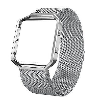 Fitbit Blaze Stainless Steel Milanese Magnetic Replacement Band with Metal (Stainless Steel Frames)