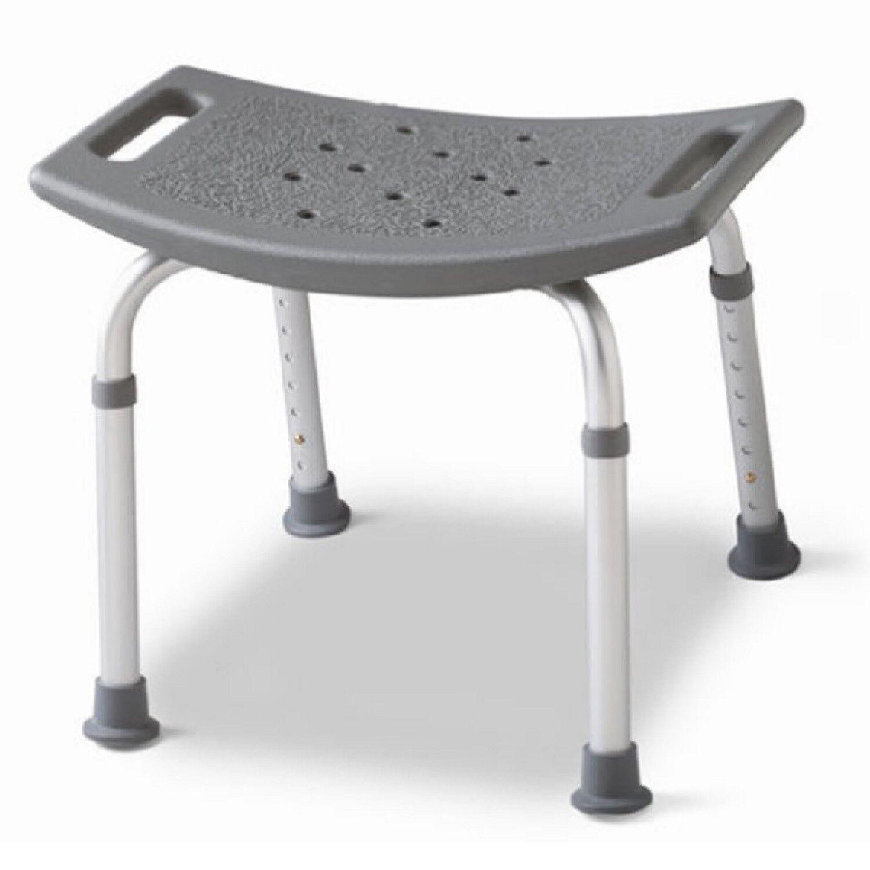 medline Backless Bath Bench Adjustable Shower Stool Seat Bathtub ...