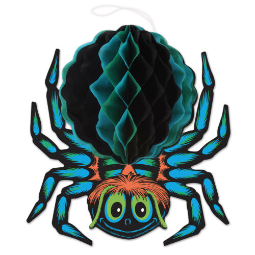 HALLOWEEN Decoration Tissue Spider Vintage Beistle 1976 Reproduction