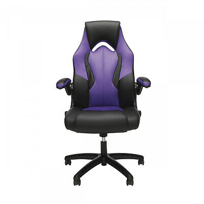 Purple Office Computer Gaming Chair Race Car Style Comfortable Swivel Seat New