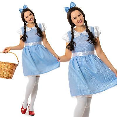 Adult OZ Cute Dorothy Fancy Dress  Great Wizard Costume Ladies Womens Female ](Great Female Costumes)