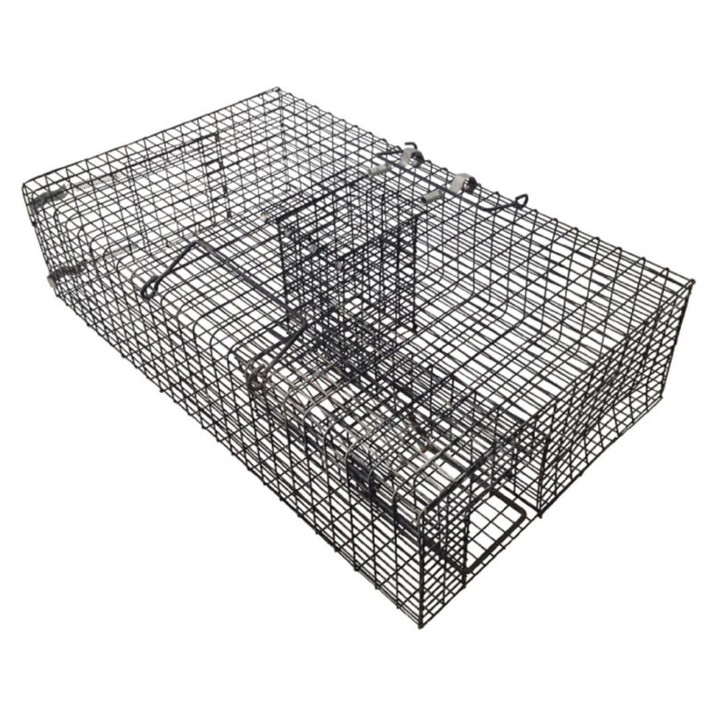 Rugged Ranch RATTR Live Rat Squirrel Chipmunk Metal 2 Door Trap Cage (Open Box)