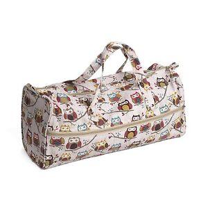 Knitting Bag - Fabric Handles - Hoot - Owls - Hobbygift - MR4698195