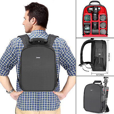 Neewer Waterproof Camera Backpack for DSLR Camera and Accessories(Red Interior)