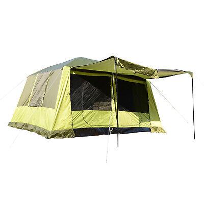 Outsunny Tenda da Campeggio 8 Persone con Veranda 410 × 310 × 225cm