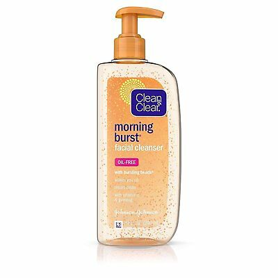 Clean & Clear Cleanser Morning Burst 8 Ounce Pump (Oil-Free) (240ml) (2 Pack) Cleanser 8 Ounce Pump