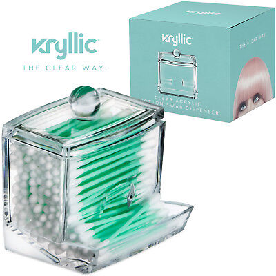 Acrylic Q-Tip cottonswab Storage Dispenser Also Great for Bobbypins & Toothpicks