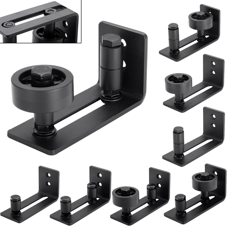 Floor Guide Wall Mount Adjustable 8In1 Setup Carbon Steel Barn Door Hardware Set