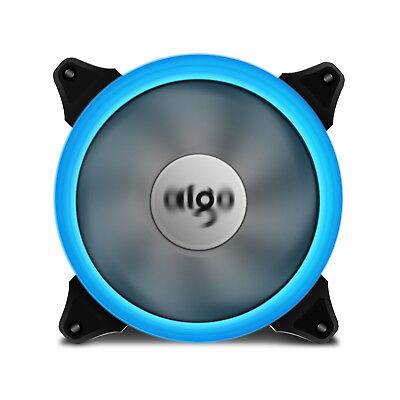 1pcs Aigo  Ice Blue Halo LED 140mm PC Computer Case Cooling Neon Clear Fan Mod