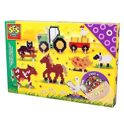 SES 06074 midi Bügelperlen Set BAUERNHOF Tiere Große Geschenkpackung