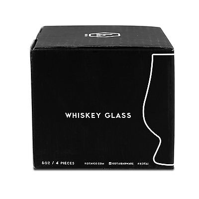 Whiskey Scotch Bourbon Rocks Glasses 6 oz - 4 Pack