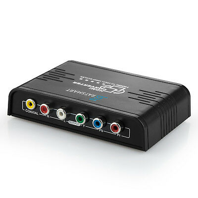 HDMI to 1080P Component Video (YPbPr) Scaler Converter Adapter with Coaxial  for sale  Shipping to India
