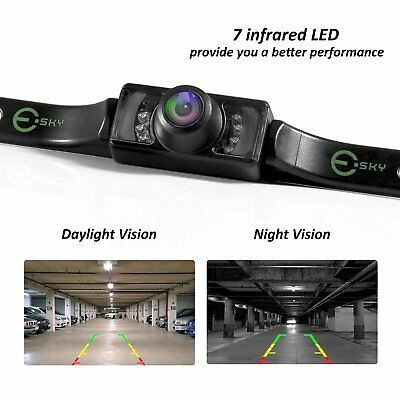 NEW UNIVERSAL WATERPROOF 7 LED NIGHT VISION CAR REAR VIEW BACK UP REVERSE CAMERA