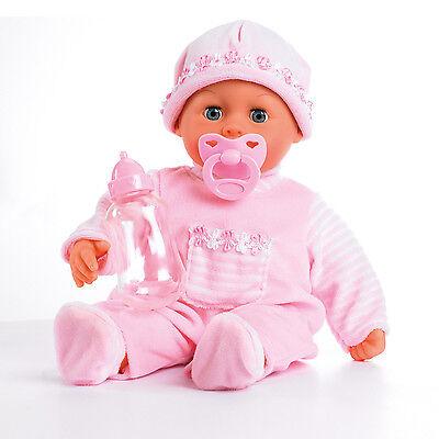 Bayer Design 93800-Rosa First Words Baby 38 cm Funktionspuppe NEU OVP-
