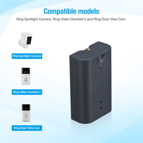 Ring Rechargeable Battery Pack For Video Doorbell 2 / Spotlight Cam W/ Cable