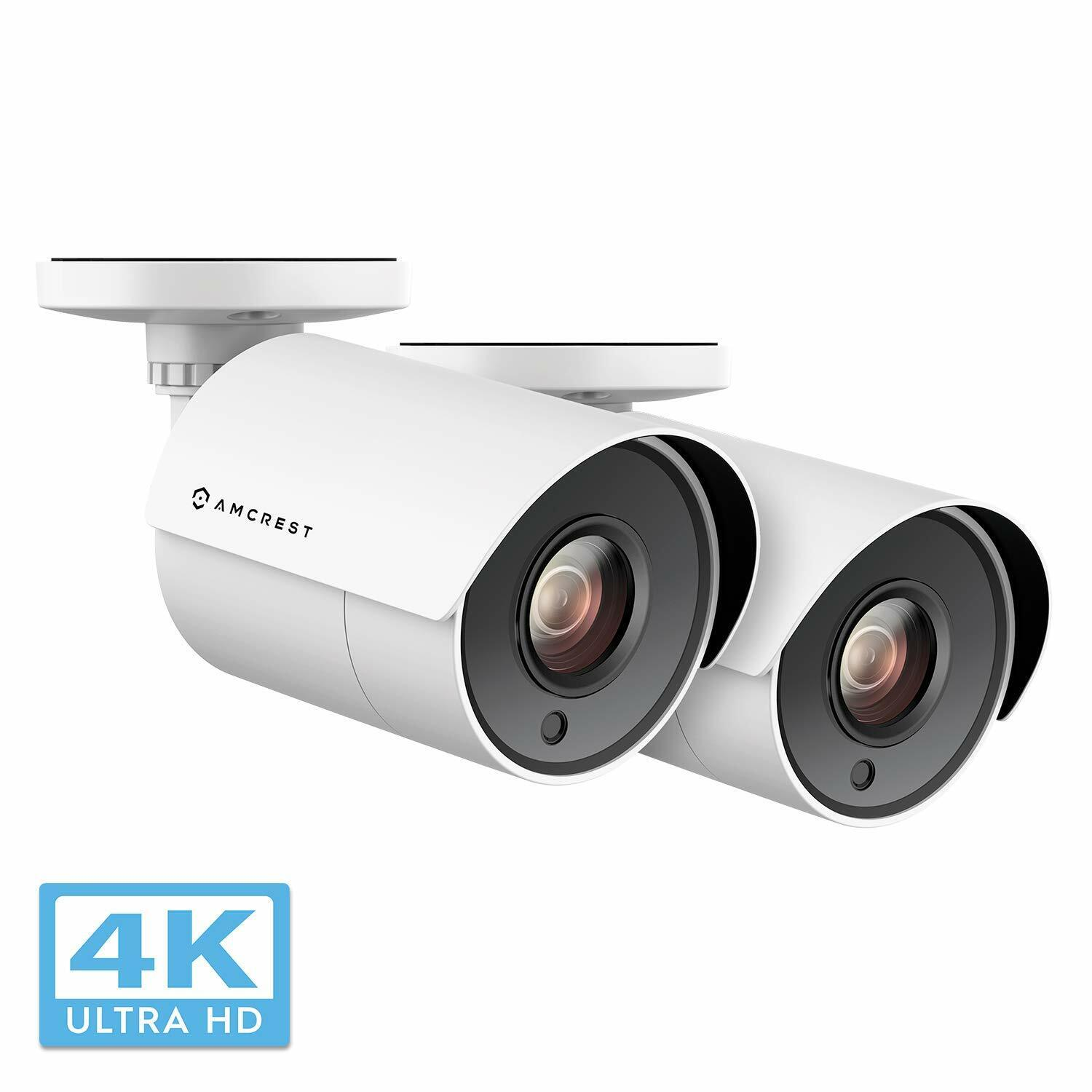 2-Pack Amcrest UltraHD 4K 8MP Bullet Outdoor Security Camera