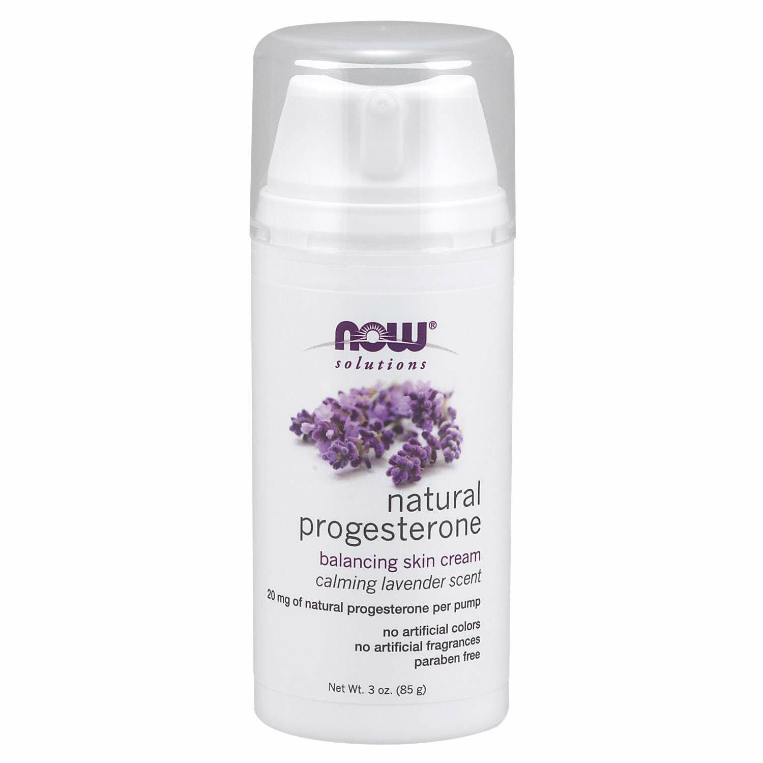 Now Foods Natural Progesterone Cream Calming Lavender Scent
