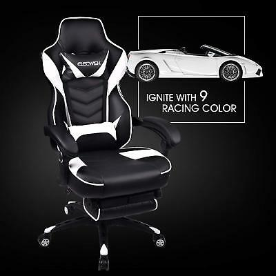 High Back Gaming Chair Racing Style Ergonomic Office Computer Desk Tesk Recliner
