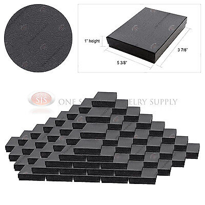100 Swirl Black Gift Jewelry Cotton Filled Boxes 5 38 X 3 78 X 1 Necklaces