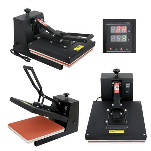 "15""X15"" DIY Digital Clamshell T-shirt Heat Press Machine Sublimation Transfer"