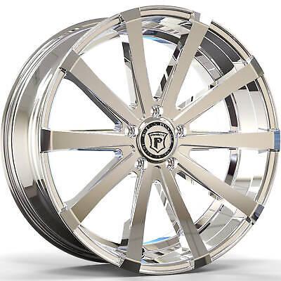 4 - 20x8.5 Chrome Wheel Pinnacle Royalty P100 5x4.5 35