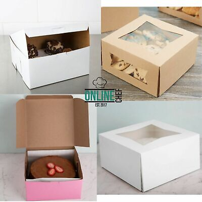 8 X 8 X 4 Square Paperboard Cake Bakery Box One Construction 150bundle